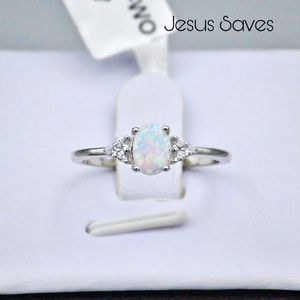 S925 Lab White Opal Ring Size 5/7/8/9 SRC17270 for Sale in Fresno, CA