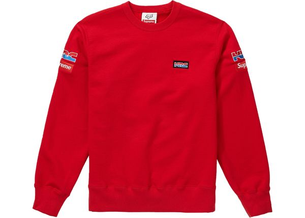 Supreme X Honda Racing company crewneck size large red