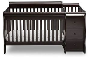 Princeton Convertible Crib and Attached Changing Table, Dark Chocolate for Sale in Virginia Beach, VA