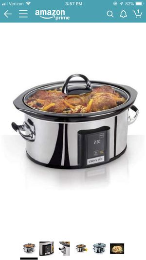 Crock-Pot 6.5-Quart, Programmable Touchscreen Slow Cooker, Silver for Sale in Atlanta, GA