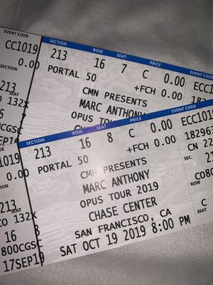 Marc anthony tickets for Sale in San Jose, CA