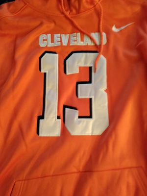 Odell Beckham Jr Browns Dri Fit Stitched jersey hoodie xxl for Sale in Ravenna, OH