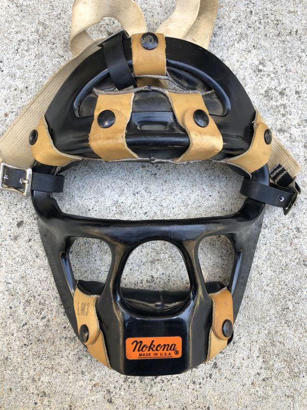 Nokona Vintage baseball catcher mask made in USA!LM3 equipment gloves bats