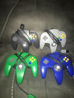 Nintendo 64 Original Controllers Excellent Sticks for Sale in Tyngsborough, MA