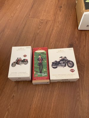 Hallmark Christmas Ornaments Harley Davidson & Harley Barbie for Sale in Palm City, FL