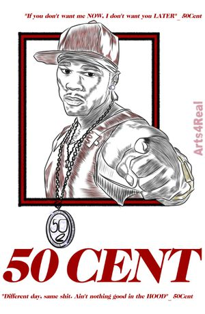 Arts4Real_ @50Cent; Digital drawing; Artwork; Design Cover; graphic design; Art for Sale in Lynn, MA