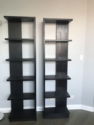 Crate and Barrel Espresso Bookshelves for Sale in Chicago, IL