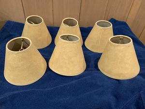 Chandelier lamp shades, set of 6 for Sale in Portland, OR