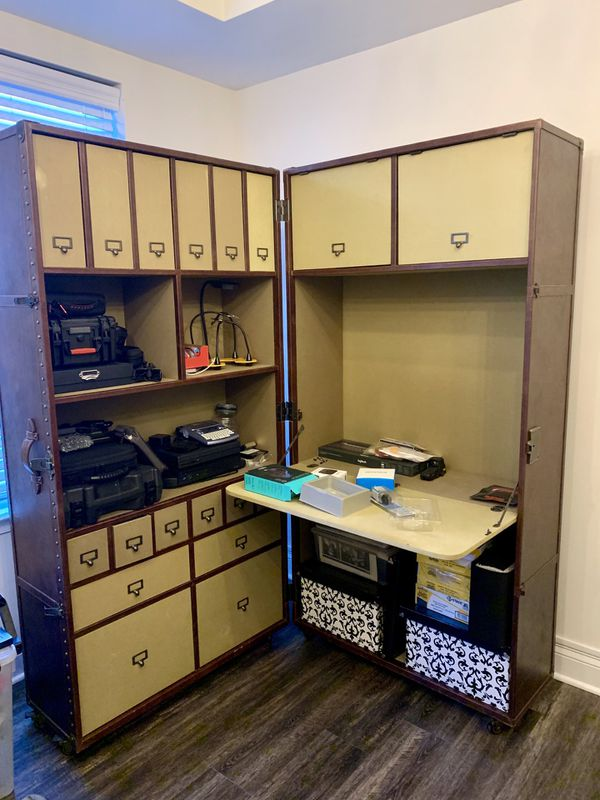 Restoration Hardware - RH - Steamer Trunk Vintage Secretary Desk/Chair - $1000 OBO (Northern Virginia)
