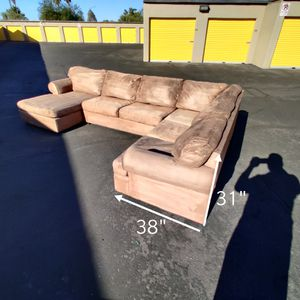 Beautiful Tan Sofa Sectional Couch + Free Delivery for Sale in Phoenix, AZ
