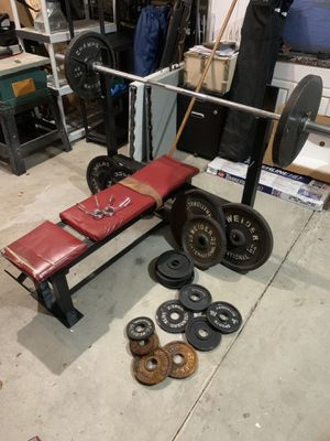 Olympic & standard free weights for Sale in Parkton, MD