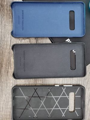 Samsung Galaxy S10 plus leather cases for Sale in Tacoma, WA