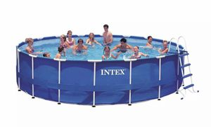 Intex 28253EH 18ft x 48in Prism Metal Frame Above Ground Swimming Pool with Pump for Sale in Davie, FL