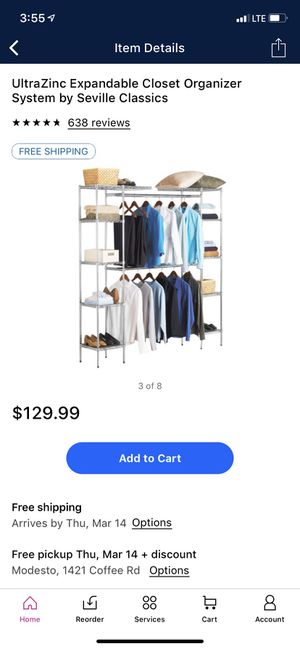 Expandable closet organizer PRICE IS FIRM for Sale in Modesto, CA