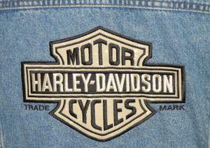 Harley Davidson denim vest size large for Sale in Lake Hallie, WI