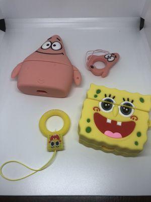 Spongebob and Patrick AirPods pro silicone case bundle for Sale in Vernon, CA