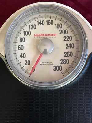 Health O Meter model 142 DC 1902 white scale capacity 300 pounds personal scale for Sale in West Palm Beach, FL