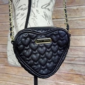 Betsey Johnson | Faux Leather Heart Crossbody Bag for Sale in Las Vegas, NV