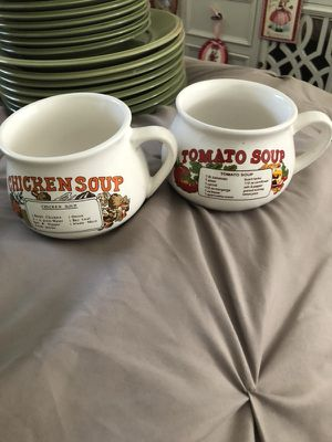 Cups w/ recipes for Sale in Montclair, CA