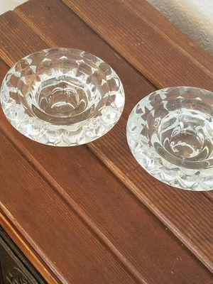 2 glass candle holders for Sale in Glendora, CA