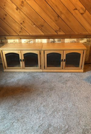 Two Wooden & Glass Cabinets for Sale in Chesterfield, NJ