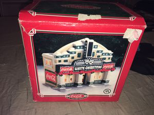 Coca Cola American Classics Collection Issue Glass statue 1995 White Christmas Movie Theater Complete and still lights up for Sale in Rochester Hills, MI