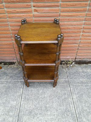 Vintage Side Table w Shelves for Sale in Canby, OR