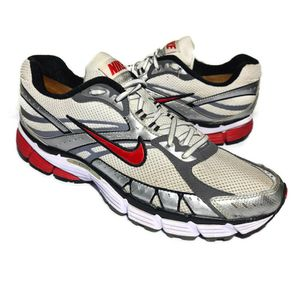 Nike Men's Structure 12 Off White Red Running Walking Shoes Size 11 for Sale in West Columbia, SC