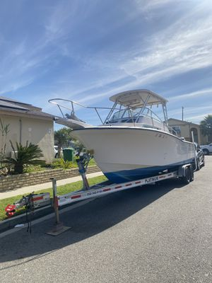 1996 with 2008 twin yamaha 200Hp 350Hours offshore 28FT long fishing machine for quick sale. for Sale in Fontana, CA