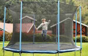 Air Fun w/ (10' Round) Trampoline with Safety Enclosure for Sale in Woodland Hills, CA