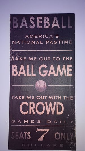 Baseball wall decor for Sale in Spring Hill, TN