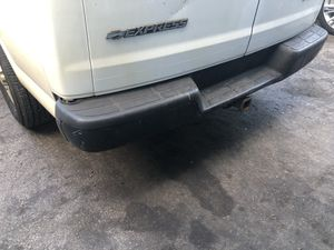 Express van rear bumper complete with all mounting hardware and plastics moldings and brackets all OEM GM parts GMC Savana for Sale in Fort Lauderdale, FL