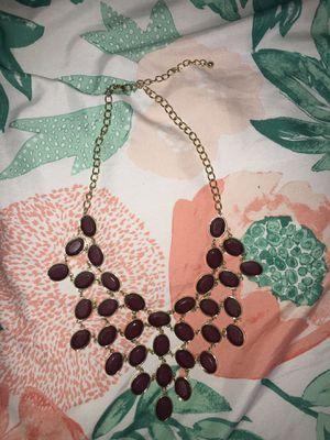 Maroon Necklace for Sale in Garden Grove, CA