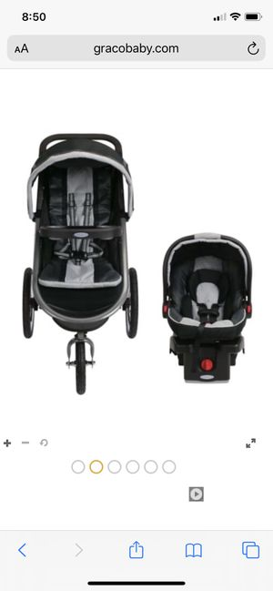 Graco jogger stroller (3 wheels) with car seat and mount for Sale in Fontana, CA