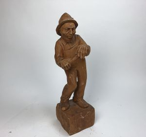 "Vintage hand carved wood sculpture/ statue - 24"" (2 feet) high unique collectible for Sale in Palm Beach Gardens, FL"