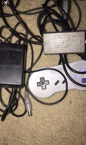 Super Nintendo Controller/Power cable/tv cable for Sale in Centreville, VA