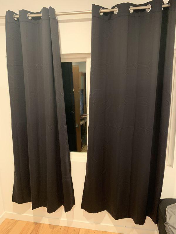 Room darkening window panels 2 black