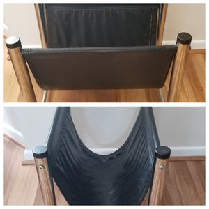 Genuine Black Leather Rack/Stand for Sale in Bowie, MD