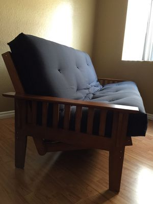 Oak Futon Couch w Deluxe Pad Brand New (Can Deliver) for Sale in National City, CA
