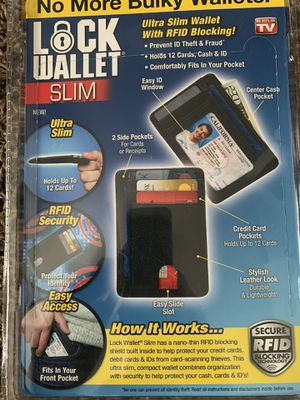 Men's wallet with RFID blocking for Sale in Middleburg Heights, OH