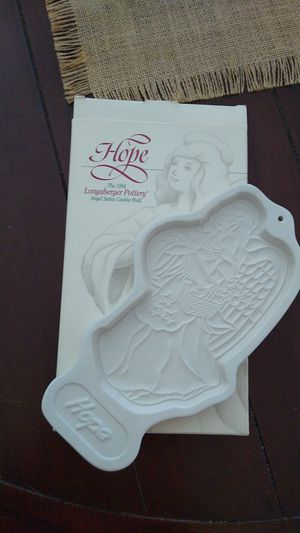 Longaberger Pottery 1994 Angel Series Cookies Mold for Sale in Carrollton, TX