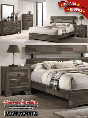 **WHOLESALE SAVINGS** FULL SIZE 4PCS BEDROOM SET BED+DRESSER+MIRROR+NIGHTSTAND (Mattress NOT included) $448 for Sale in Pico Rivera, CA