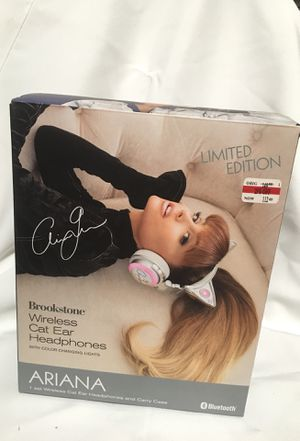 Ariana Grande Brookstone Cat Ear Headphones with Speakers for Sale in Rancho Cucamonga, CA