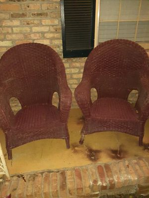 Wicker chairs for $10 for Sale in Stone Mountain, GA