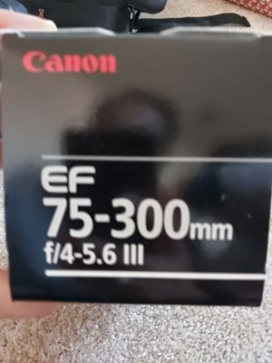 Canon EF 75-300mm F/4-5.6 lll camera lens for Sale in Allen, TX