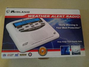 Midland NOAA Weather Alert Certified Radio with SAME, Trilingual Display and Alarm Clock for Sale in Lubbock, TX