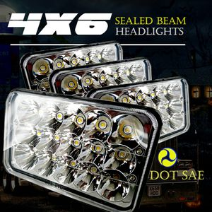 TURBOSII DOT Approved 4X6 LED Headlight Assemblies Hi/Lo Sealed Beam Replace H4651 H4656 Hid Bulb Headlamps KW Kenworth T600 W900 T800 for Sale in Ontario, CA