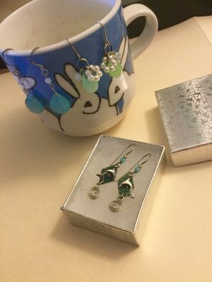 Dolphins earrings 🐬 Jewelry & gifts for Sale in Alexandria, VA