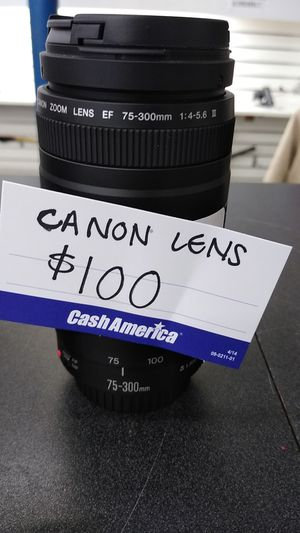 Nikon and cannon lens and camera for Sale in Irving, TX