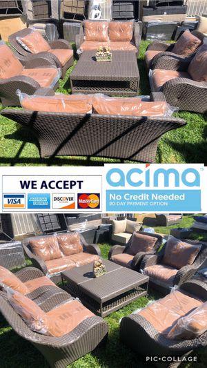 Patio furniture set sunbrella cushions for Sale in Norco, CA